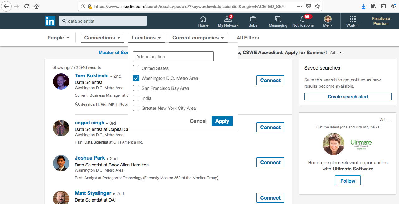 Use LinkedIn to Find People Who Are Doing What You Want to Do in Life